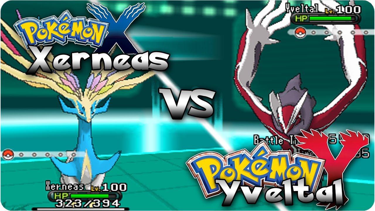 Pokemon X Amp Y Shiny Xerneas Vs Shiny Yveltal Legendary