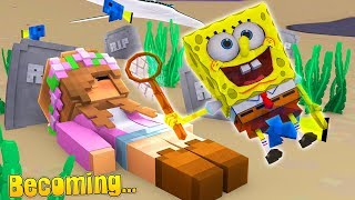 HOW TO BECOME SPONGEBOB SQUAREPANTS | Minecraft Little Kelly