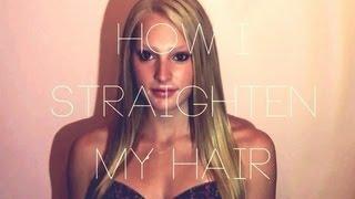 How I Straighten My Hair! Thumbnail