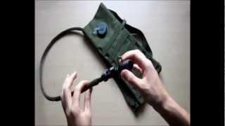 Camelback verde OD con attacco M.O.L.L.E. Mil-tec