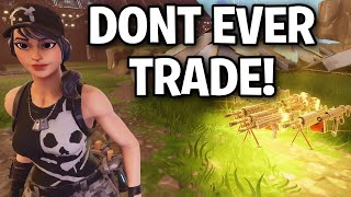 Don't ever trade if someone says this... 😂🤣 (Scammer Get Scammed) Fortnite Save The World