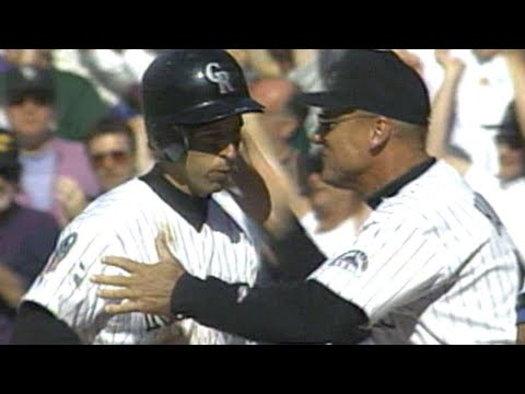 Walt Weiss Hits a Walk-Off Single in the Second Game at Coors Field