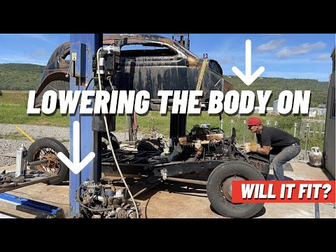 PUTTING THE BODY ON THE CHASSIS: 1935 HUPMOBILE/FORD BUILD