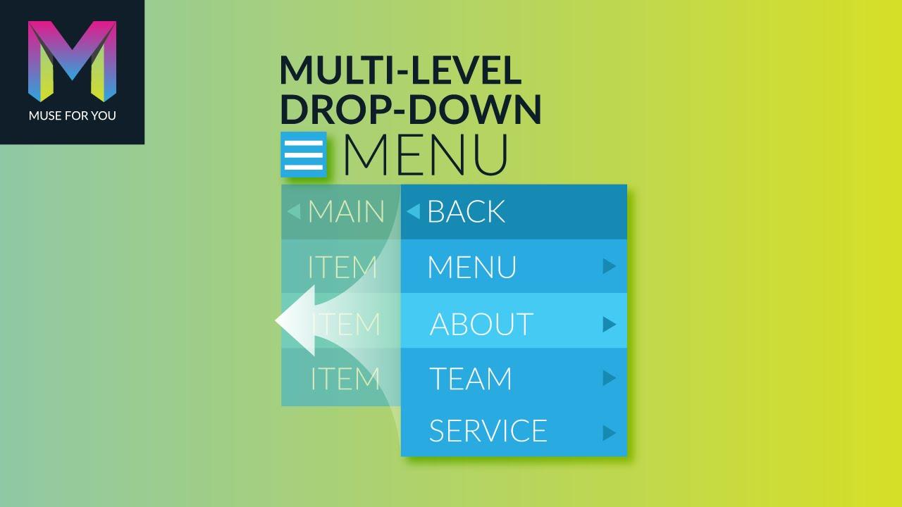 Multi-Level Drop-Down Menu Widget | Adobe Muse CC | Muse For You