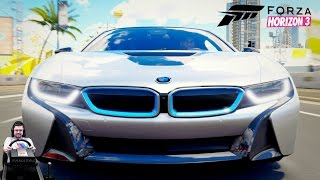 Крутые тачки из нового карпака - Rockstar Energy - Forza Horizon 3 на руле Fanatec CSL Elite Wheel