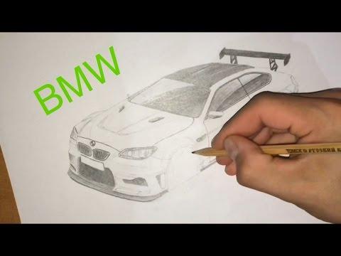 Как нарисовать Машины поэтапно карандашом
