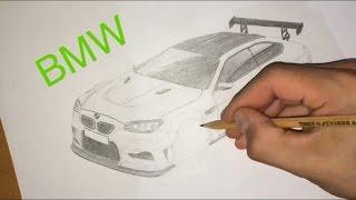 Как нарисовать машину BMW Drawing IRS(Как нарисовать машину BMW. На рисунок у меня ушло почти 4 часа без перерывов и 2 часа на обработку видео, ролики..., 2016-04-09T12:09:24.000Z)