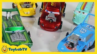 Disney Cars Toys Deluxe Hot Rod Set Lightning McQueen Mater The King Filmore Ramone Diecast Cars 2