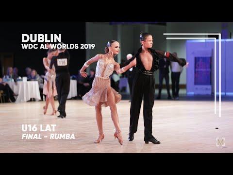 Alexander Kovalev - Eilizaveta Borisova, RUS   2019 Dublin   World U16 LAT - F R