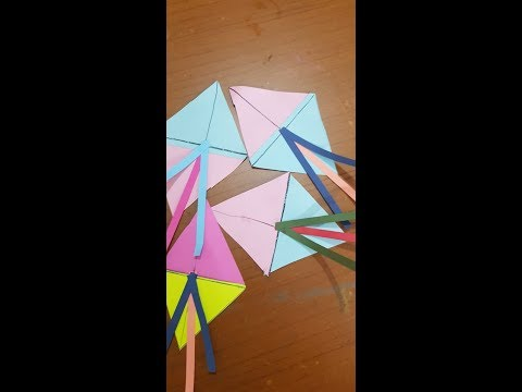 HOW TO MAKE PAPER KITE AT HOME--TUTORIAL