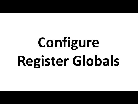 Securing PHP Sites:- Configuring Register Globals