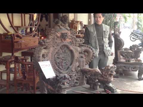Bộ Ghế Đỉnh Rồng Gỗ Mun 12 món (27-1-2014 Đồ gỗ Mỹ Nghệ Cổ Truyền Cao Cấp Thành Luân)