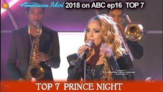 """Jurnee sings """"Kiss""""GREAT JOB!! Prince Night American Idol 2018 TOP 7"""