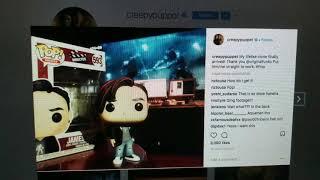 James Wan Displays His Funko Pop while Working on Aquaman