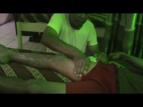 Massage therapy for ruptured knee ACL (anterior cruciate ligament) PART #1 TOTALLY TEAR ACL