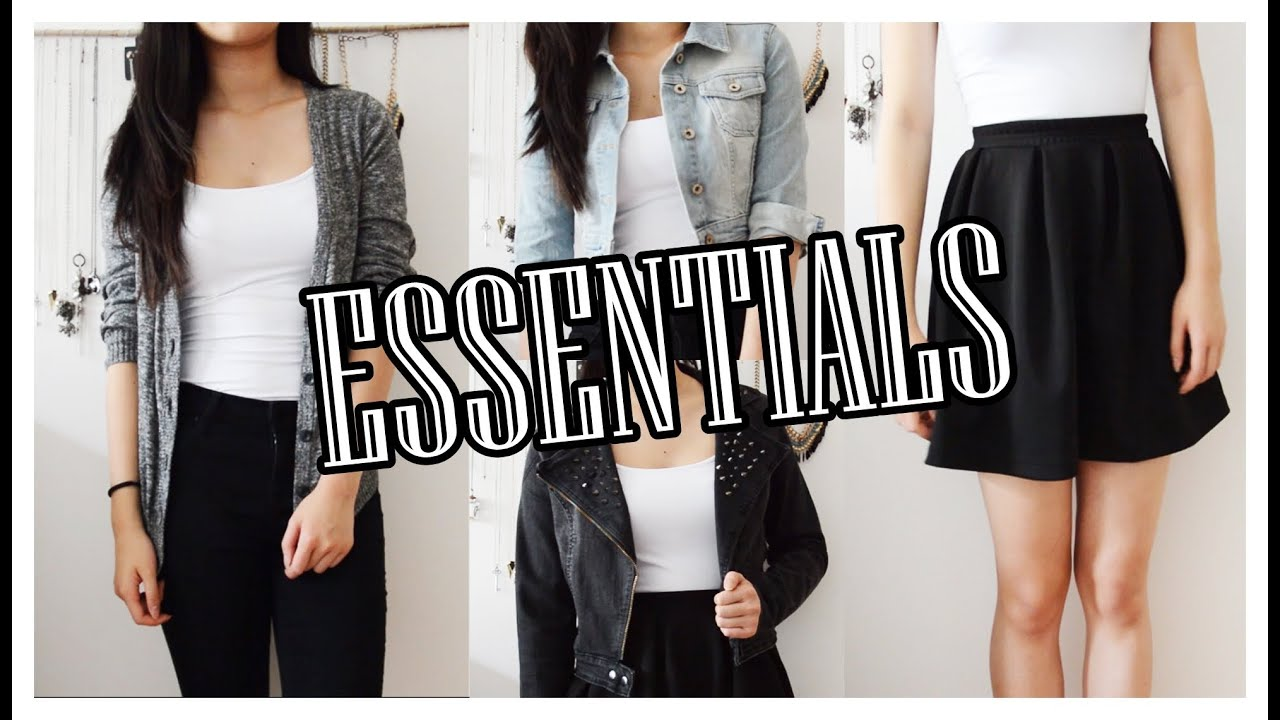 my top 10 wardrobe essentials basic clothing pieces