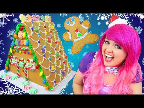 Decorating Christmas Gingerbread Deluxe House   DIY Wilton Candy Gingerbread House   KiMMi THE CLOWN