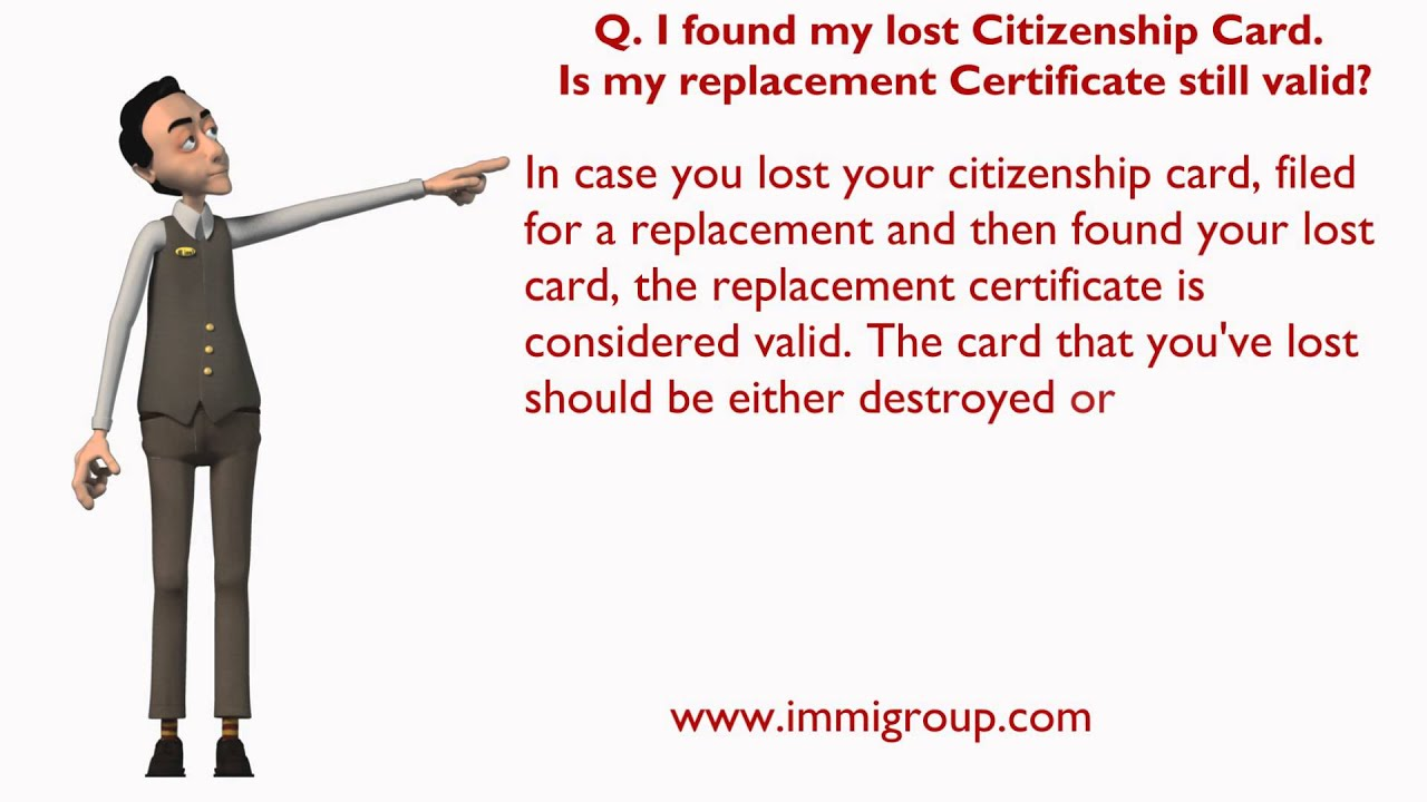 I Found My Lost Citizenship Card Is My Replacement Certificate