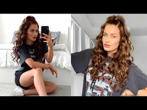 Voluminous Curly Half Up - Half Down | Hair Tutorial thumbnail