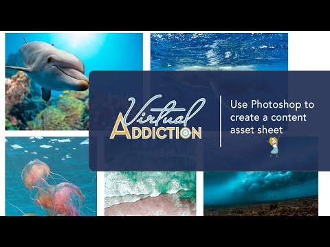 Photoshop: Creating an content asset sheet