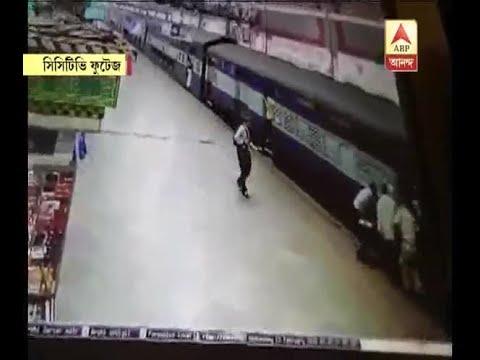 RPF jawan saves woman who accidentally slips between train and platform
