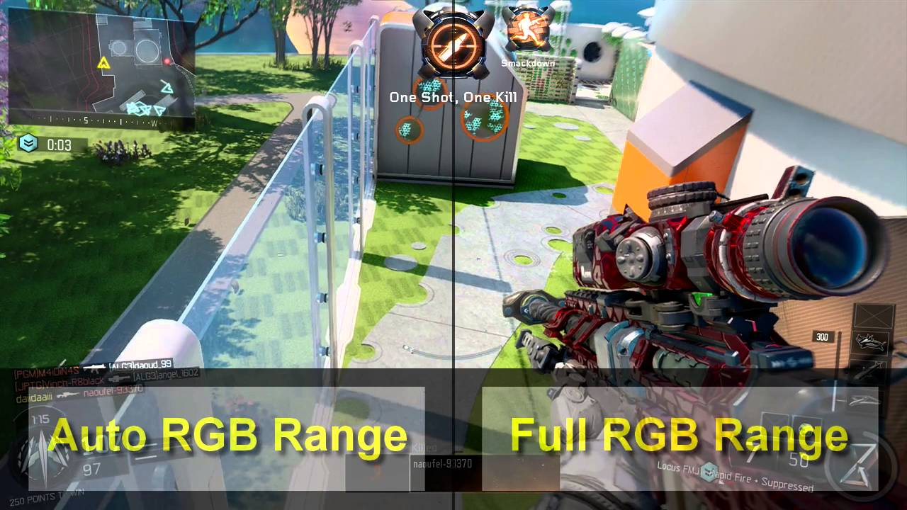 PS4 RGB Range comparison on Black Ops 3  (FULL RGB IS BETTER)