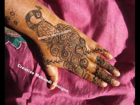 Mehndi Peacock Tattoos : Gorgeous peacock and feather henna mehndi design tutorial