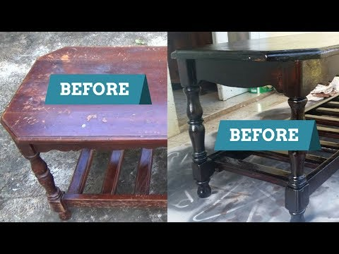 How To Sand Strip And Refinish Varish A Coffee Table