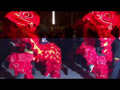 Chinese New Year Dragon dance, Full Light Show & Finale  2018 Liverpool