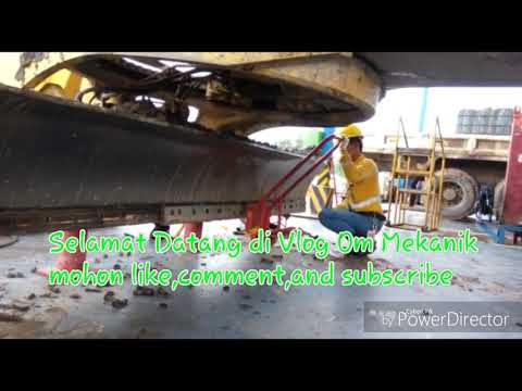 Maintenance Penggantian Cutting Edge Grader GD825A-2 || Ganti Cutting Edge Alat Berat