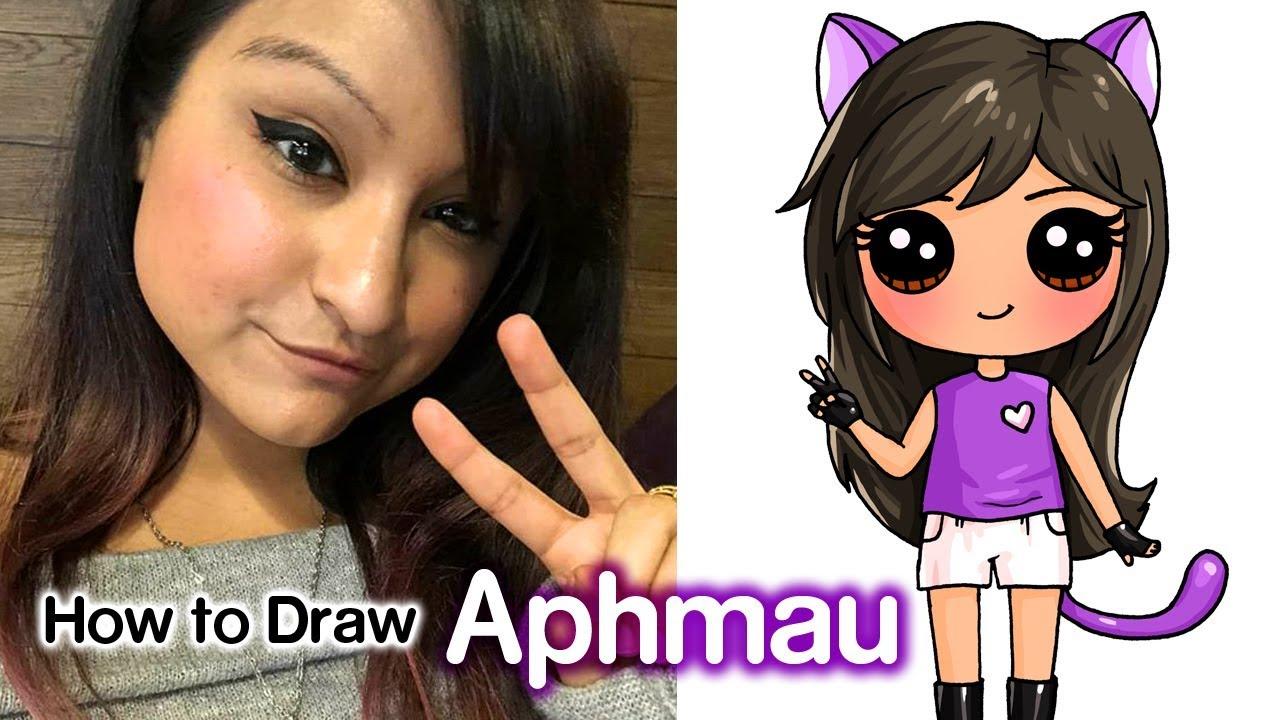 How to Draw Aphmau  Youtube Star