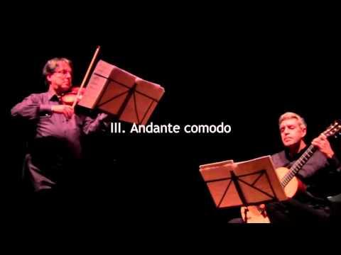 Eros Roselli: Quattro pezzi (Four pieces) for violin and guitar