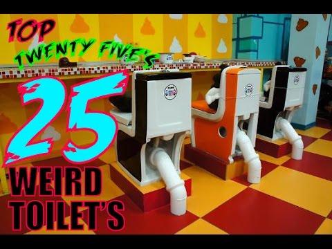 Top 25 Weirdest Toilets In The WORLD!!!