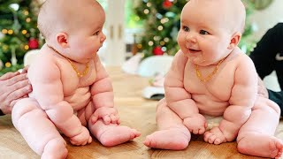 Awww! Cutest Baby Triplet and Twin Make You Happy  - Funny Baby Videos