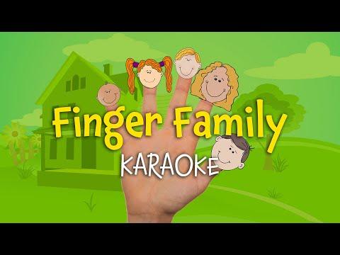 Finger Family (instrumental nursery rhyme - lyrics video for karaoke)