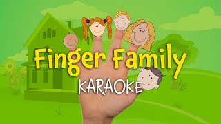 Finger Family (instrumental nursery rhyme - lyrics video for karaoke)