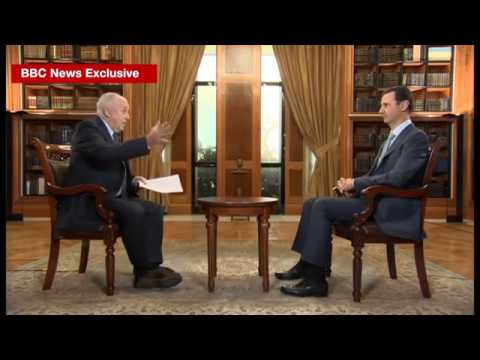 Syria conflict BBC exclusive interview with Syrian President Bashar al Assad