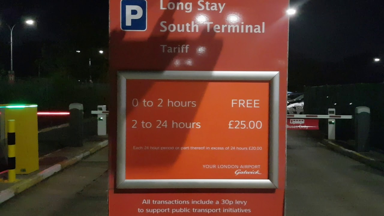 London Gatwick Airport 2 Hours Free Parking Youtube