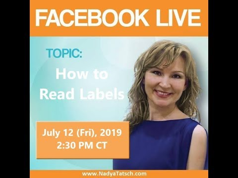 Let's Talk Health - How to Read Labels (2019-07-12 Livestream) thumbnail