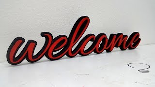 Welcome Sign Wall Decor