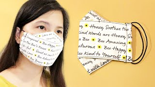 How to make a simple 3D face mask Fabric Face Mask Sewing Tutorial Make face mask in 5 minutes