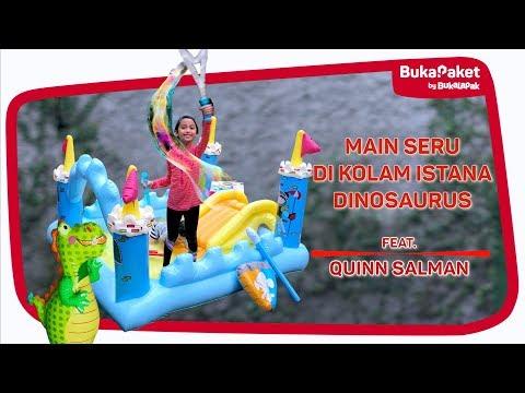 Berenang Seru di Kolam Istana Dinosaurus feat. Quinn Salman | BukaPaket for Kids