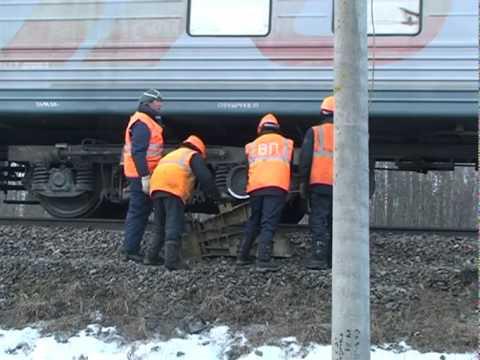 Пассажирский поезд сошел с рельс!