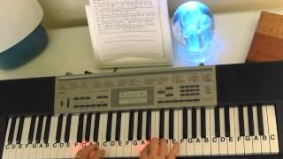 How to Play ~ Minuet In G ~ J S Bach ~ LetterNotePlayer ©