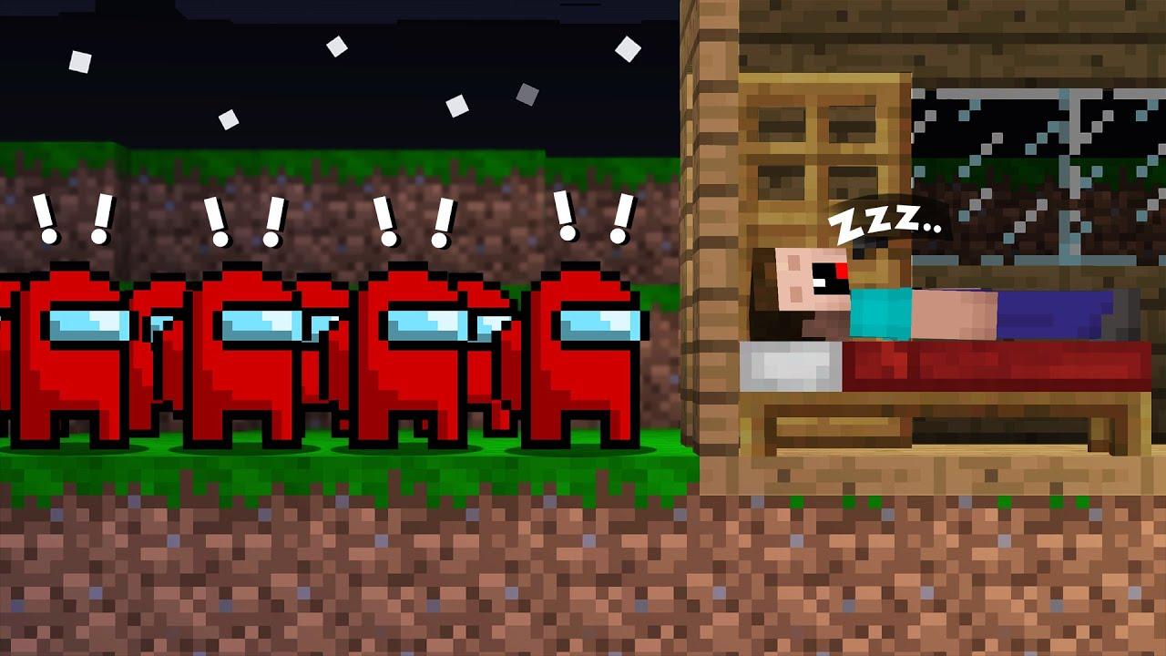 ARMY IMPOSTORS vs NOOB! Among us in Minecraft Noob vs Pro