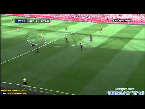 This is Football 4 - Arsenal vs Benfica at Emirates Cup 2014