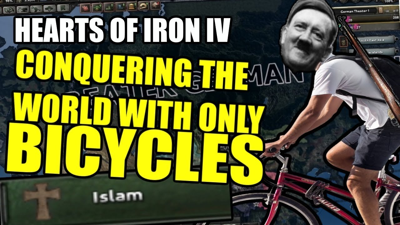 Hearts Of Iron 4: CONQUERING The WORLD With BIKES