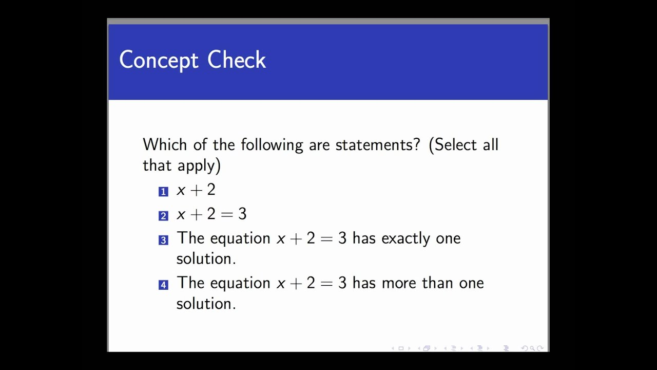 statements and non statements screencast