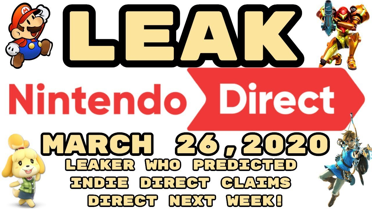 LEAKED Nintendo Direct March 26, 2020 ...