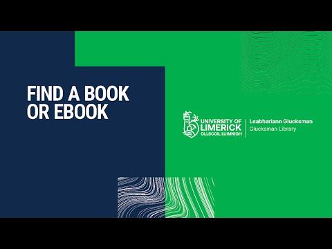 Find A Book Or Ebook